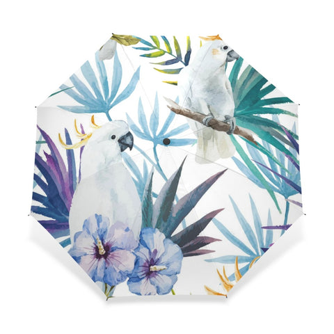 Tropical Macaw Wind Resistant Umbrella