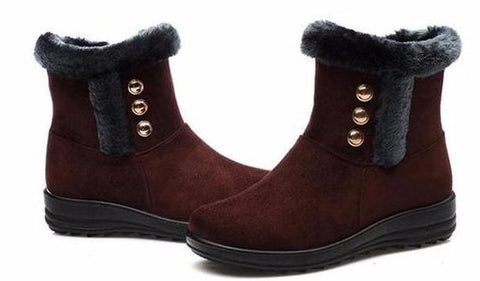 Button Side Snow Boots in 3 Colors