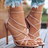 Saucy Criss-Cross Dress Sandals in 3 Colors
