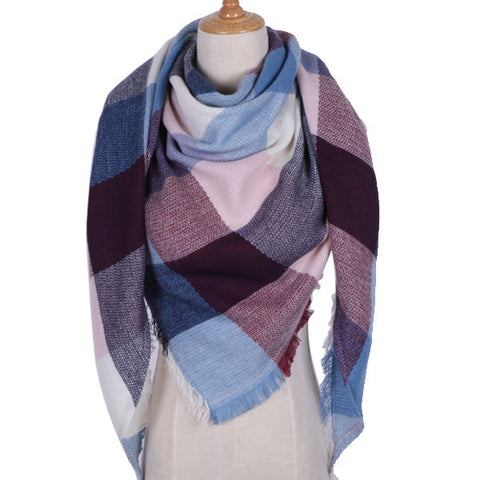 Women's Cashmere Blend Triangle Scarf - 40 Design/Color Options