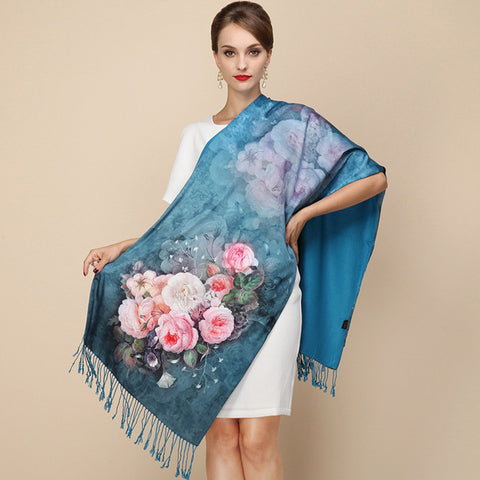Reversible Designer Winter Big Scarf in 18 Colors/Designs