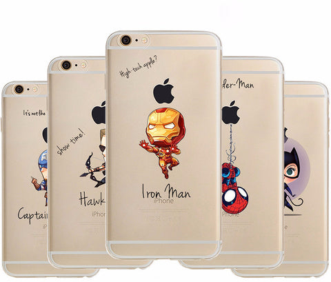 Avengers Caricatures Soft Phone Case