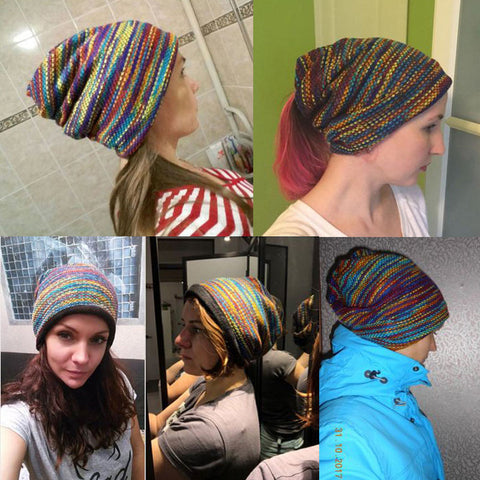 Variegated Adjustable Ski Cap in 3 Colors