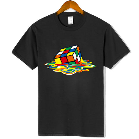 Melting Rubik's Cube Tee in 15 Colors