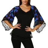 Butterflies Lace Trim Top in 3 Colors
