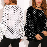 Polka Dots and Ruffles Shirt