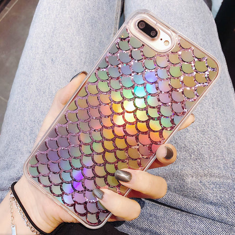 Iridescent  Mermaid Tail iPhone Case
