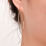 Elegant Curve Front and Back Earrings