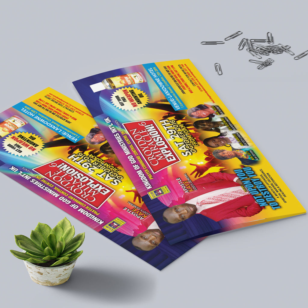 DL 4pp 350gsm flyers (Folded)