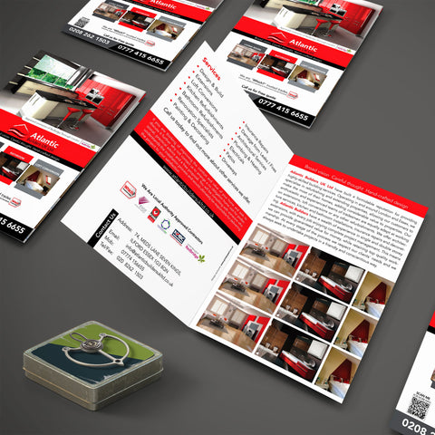 A4 4pp 350gsm flyers (Folded)