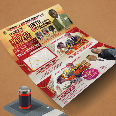 DL 6pp Flyers 250gsm (Folded)