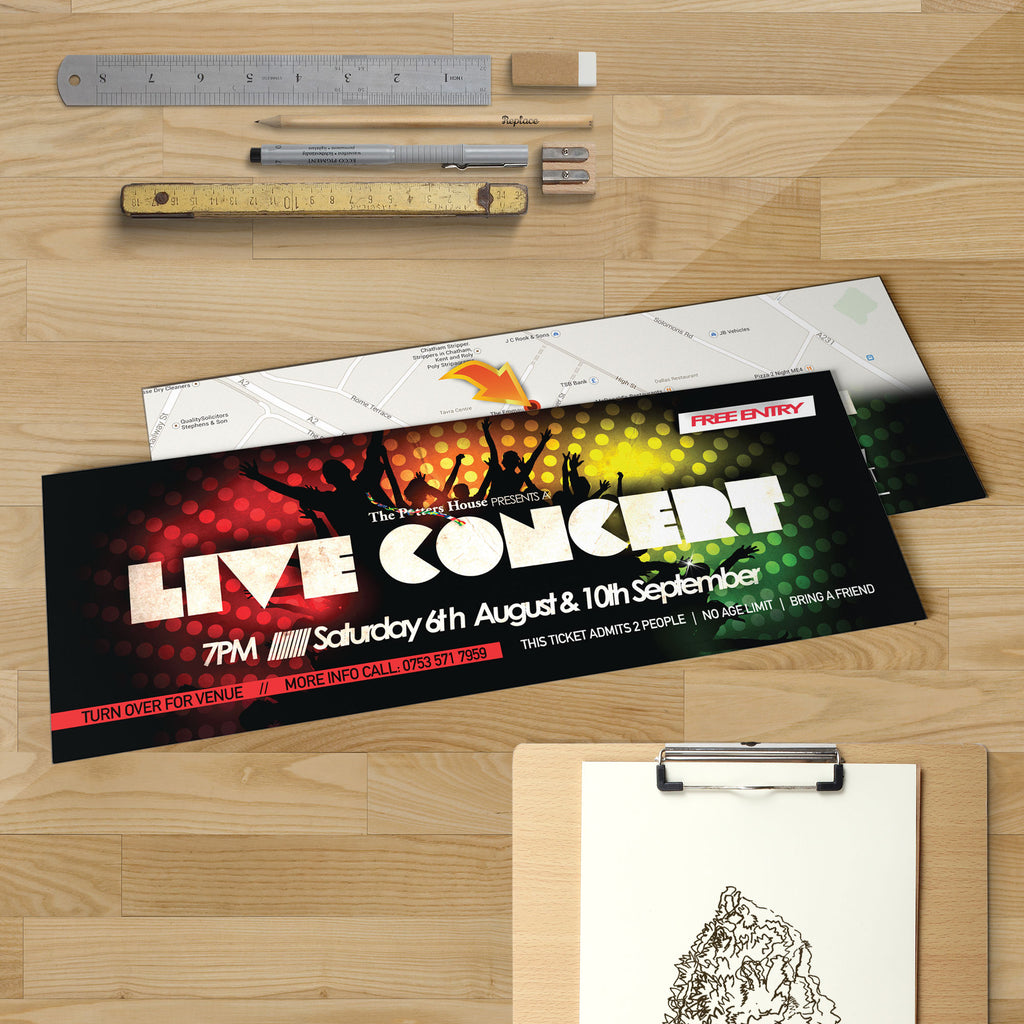 A5 Slim (210 x 74mm) Standard Flyers (350gsm)