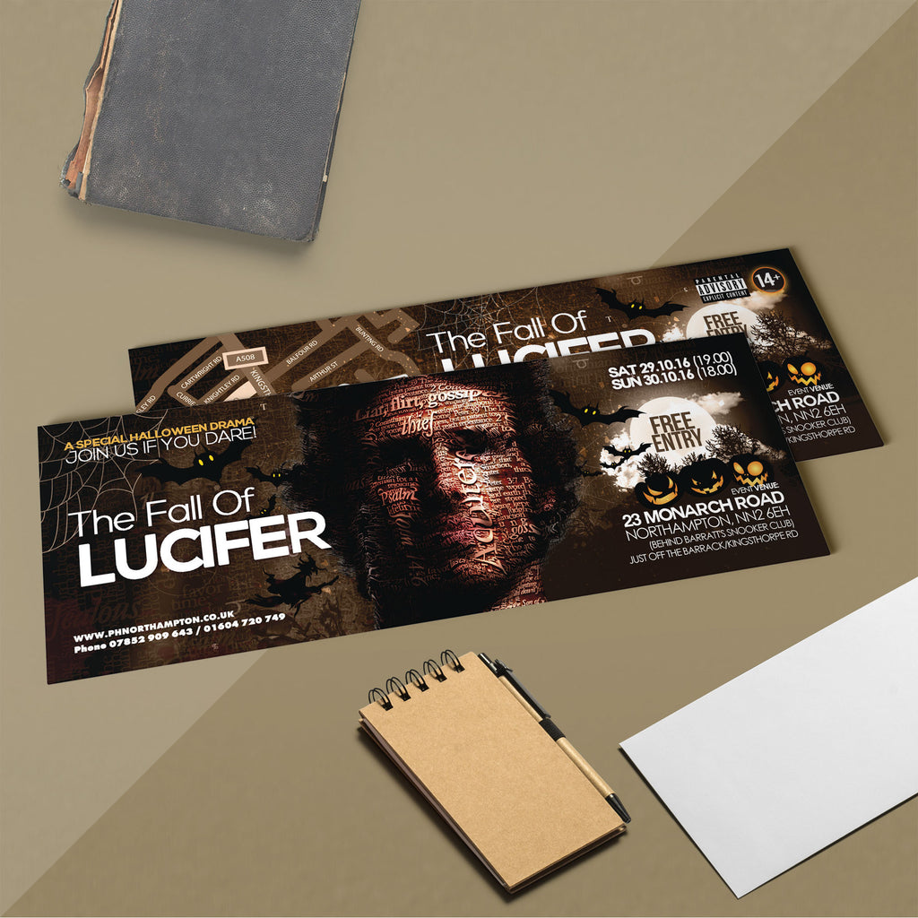 A5 Slim (210 x 74mm) 250gsm Flyers