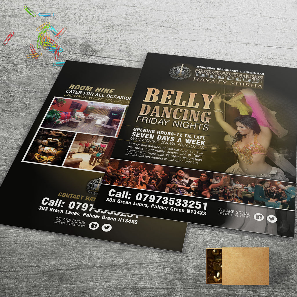 A5 Gloss Laminated Flyers (320gsm board)
