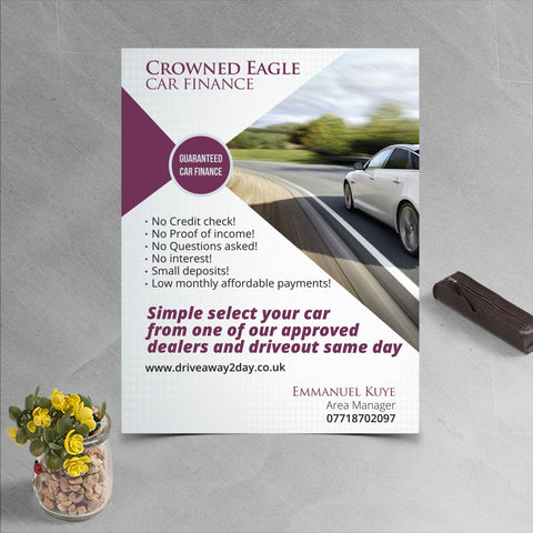 A5 Slim (210 x 74mm) 130gsm leaflets (no fold)