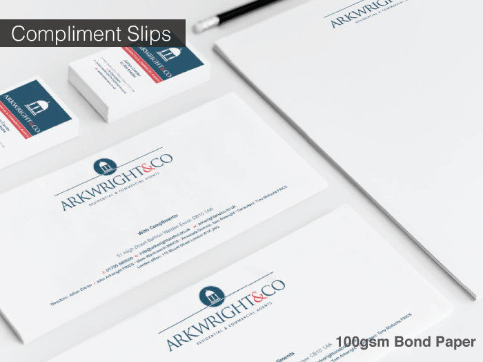 Compliment Slips 100gsm
