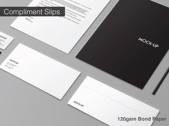 Compliment Slips 120gsm Conqueror Diamond White
