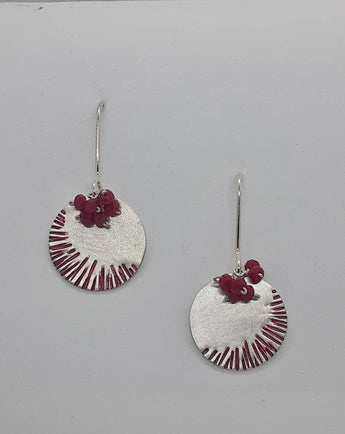 Unique, Colourful, Contemporary Stirling Silver, Handmade, Earrings Titled
