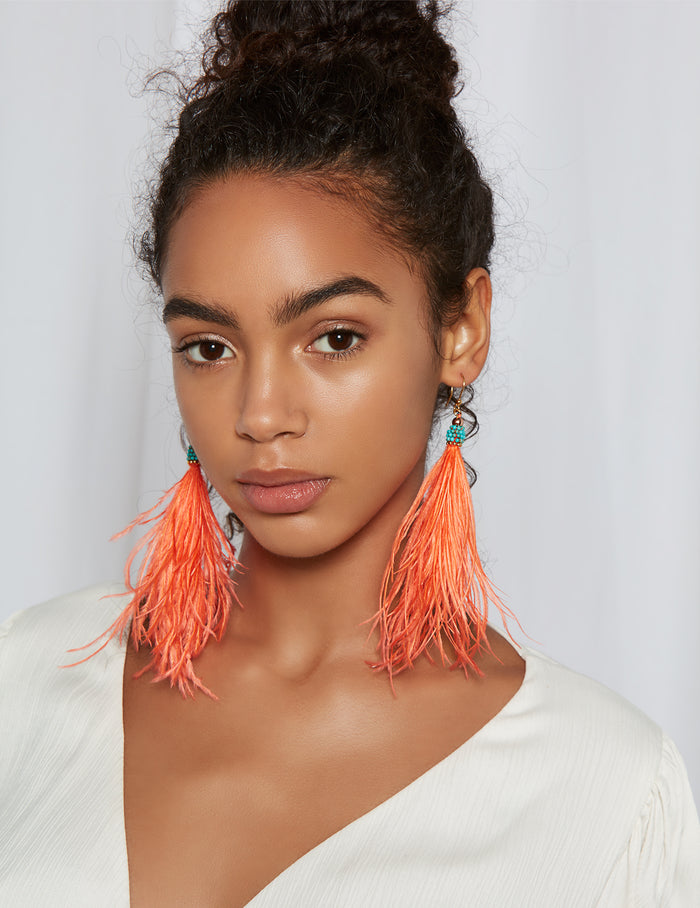 Alma feather earrings