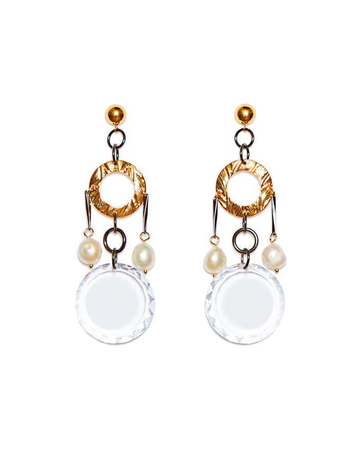 Crystal earrings (hoop clip)