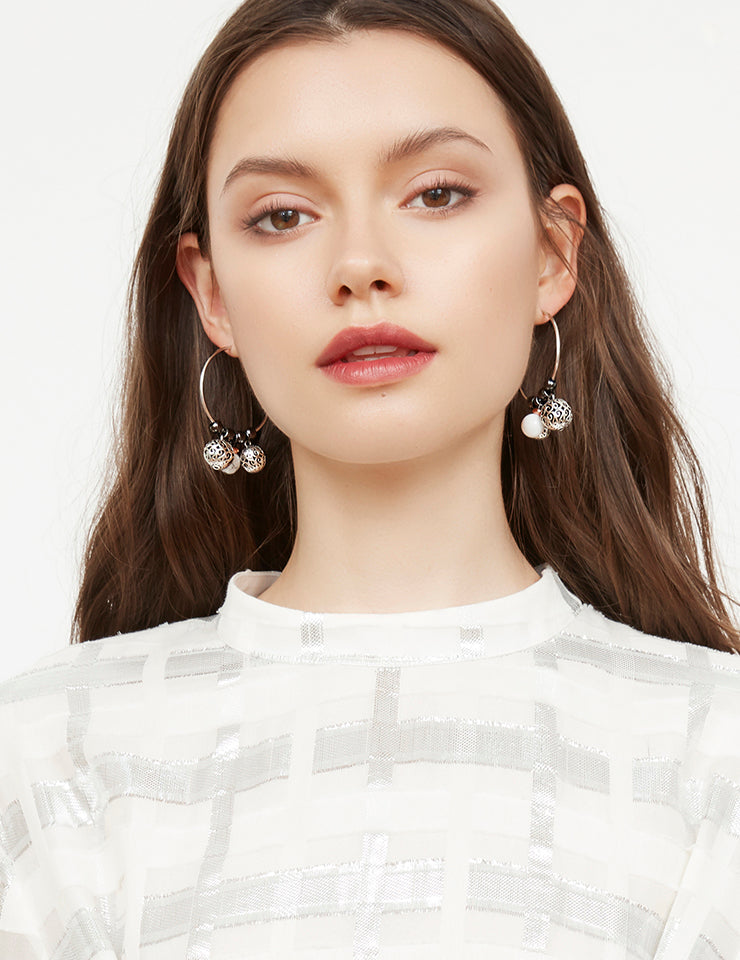 Ruth hoop earrings