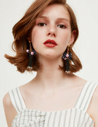Aria fringe earrings