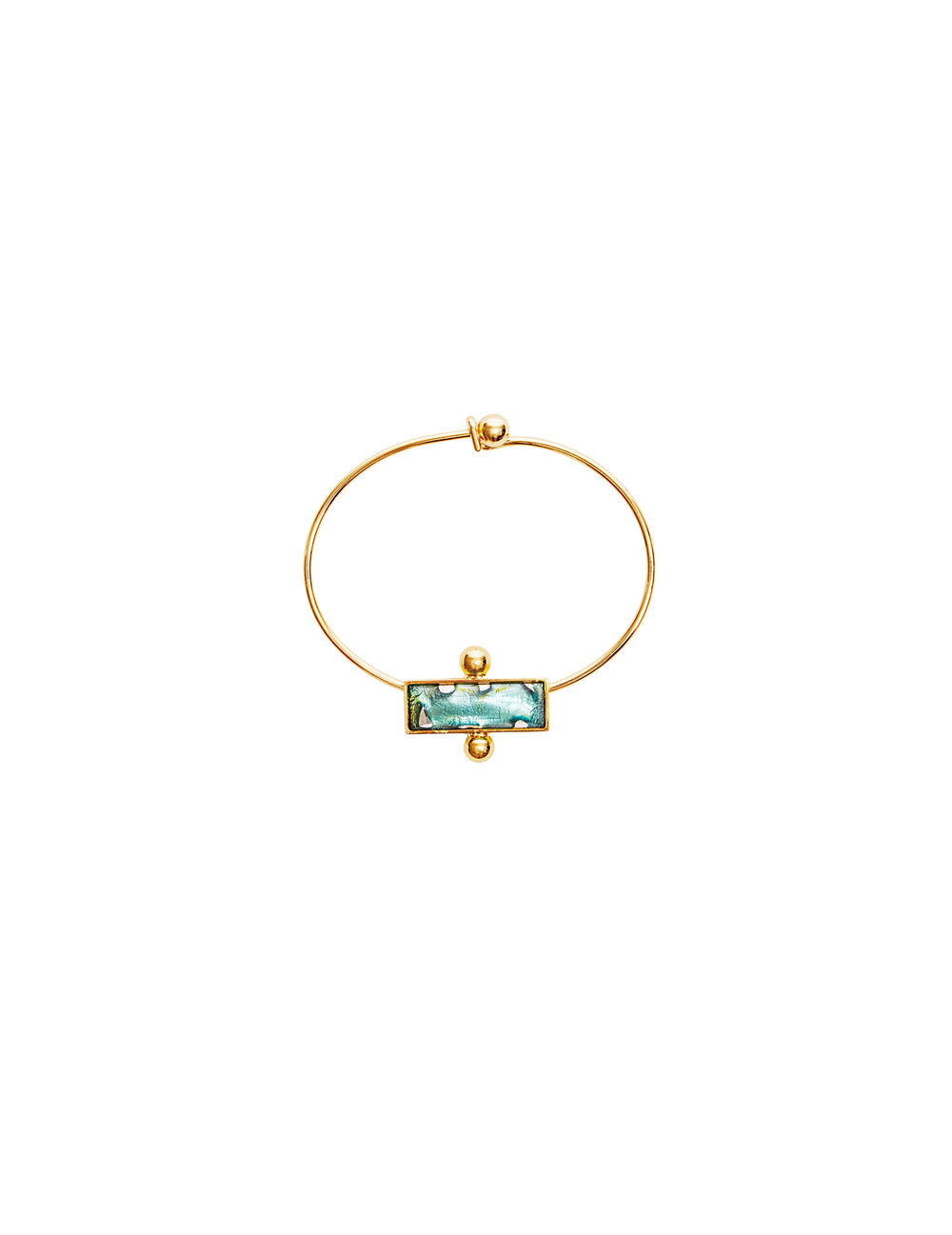 Tilly green metal bracelet