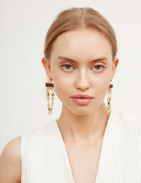 Tilly Garnet Earrings