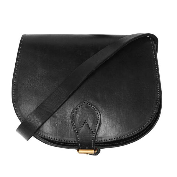 Medium Sam Saddle Bag - Black-ISMAD LONDON