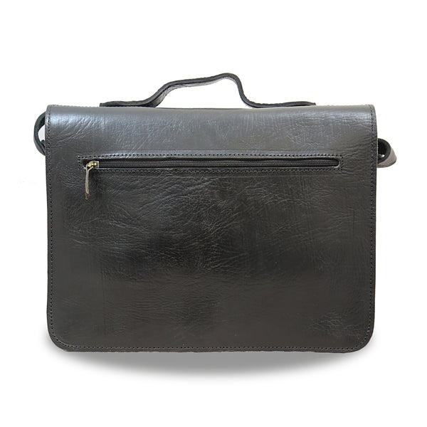 Brixton  Briefcase - handmade leather bags smadlondon