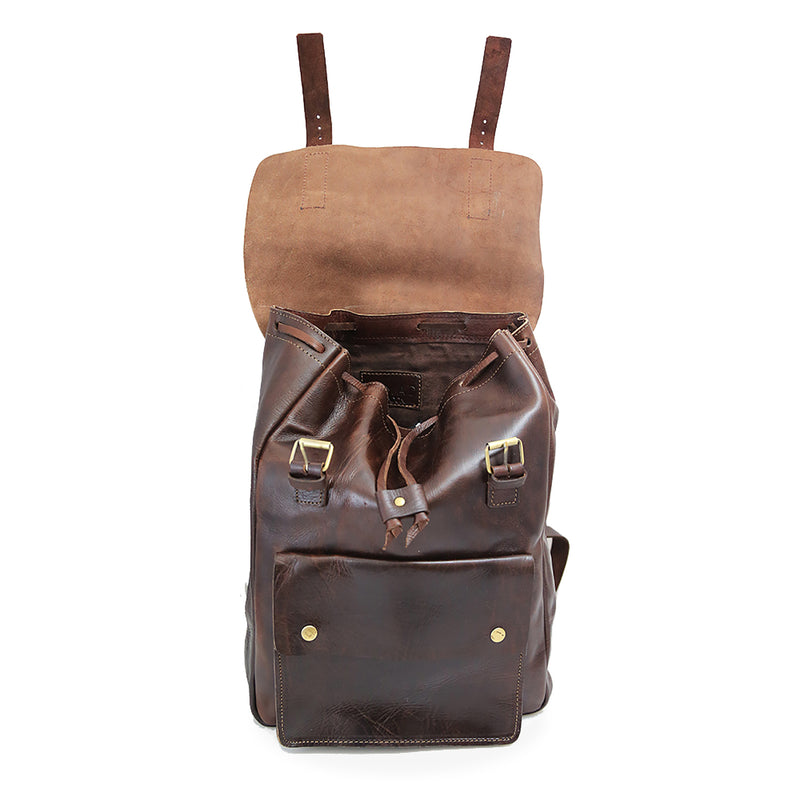 Charlie Backpack - Chocolate-ISMAD LONDON