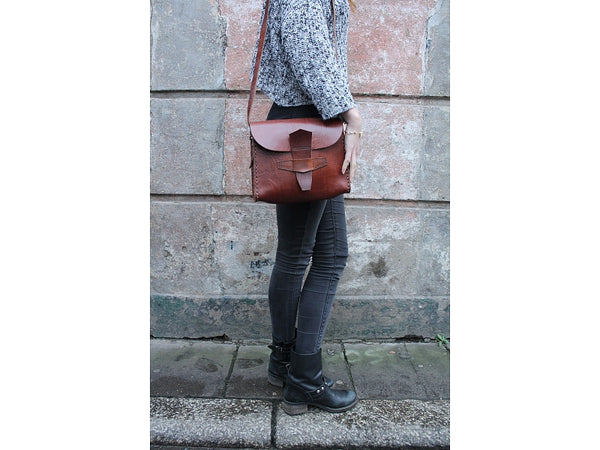 Sophie Shoulder Bag - handmade leather bags smadlondon