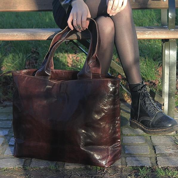 Ismad Shopper Tote - Chocolate-ISMAD LONDON