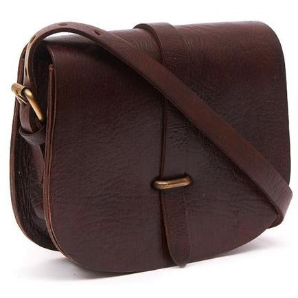 Large Sam Loop Saddle Bag - Chocolate-ISMAD LONDON