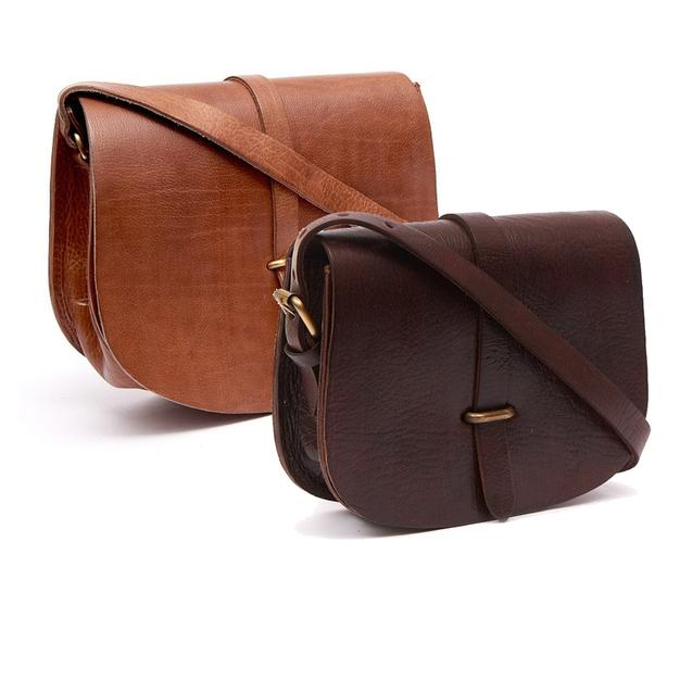 Large Sam Loop Saddle Bag - Tan