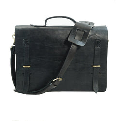 Camden Loop Briefcase - Black-ISMAD LONDON