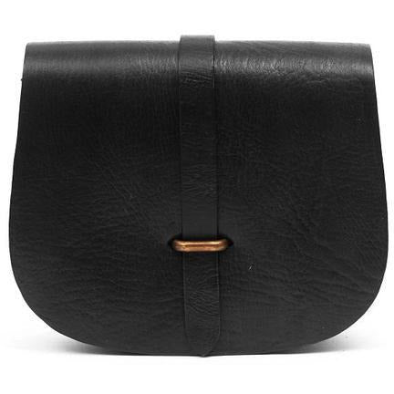 Medium Sam Loop Saddle Bag - Black-ISMAD LONDON