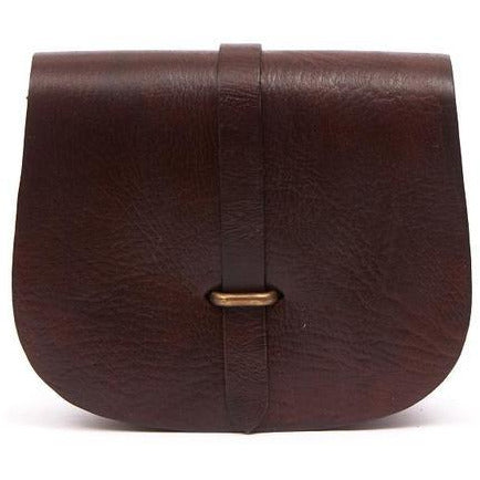 Medium Sam Loop Saddle Bag - Chocolate-ISMAD LONDON