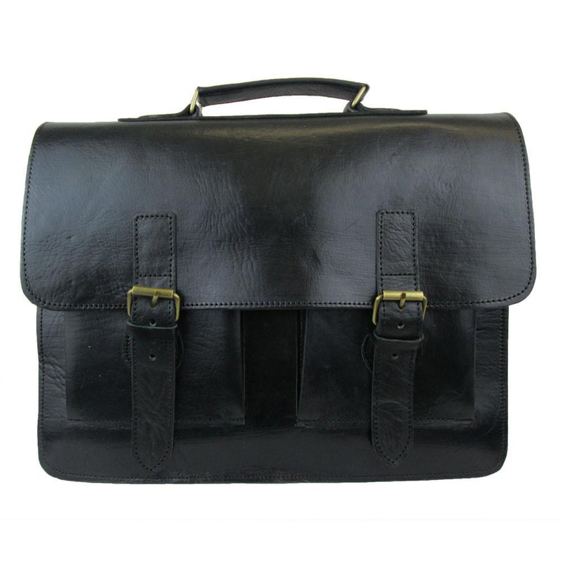 Spitalfields Briefcase - Black-ISMAD LONDON