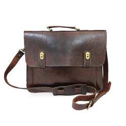 Brixton Briefcase - Chocolate-ISMAD LONDON