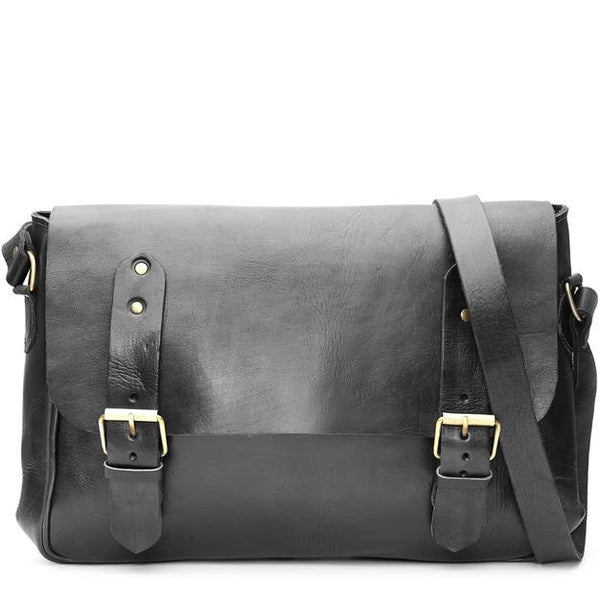 Paul Messenger Bag - Black-ISMAD LONDON
