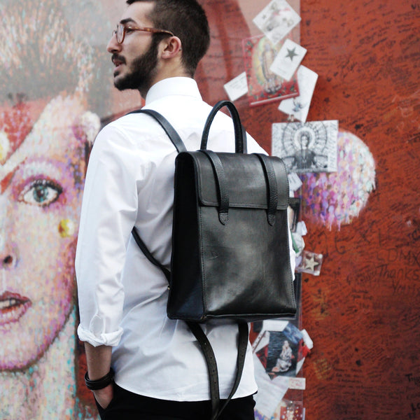 Bowie Backpack - Black-ISMAD LONDON