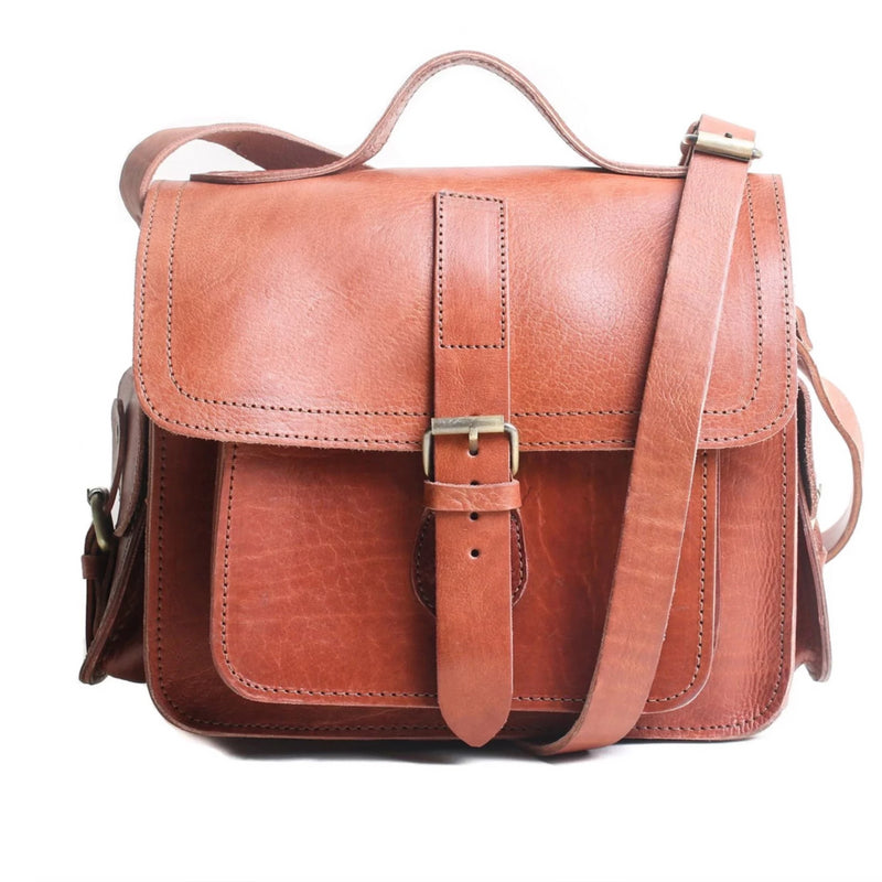 Camera Satchel Bag -Tan