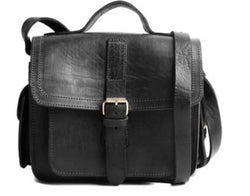 Camera Satchel Bag - Black-ISMAD LONDON