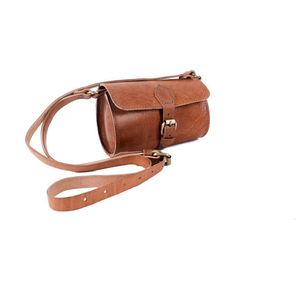 Pixie Barrel Bag - Tan-ISMAD LONDON