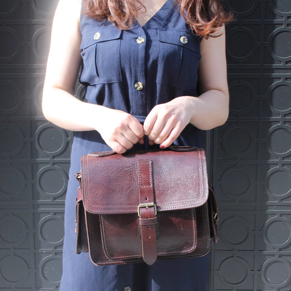 Camera Satchel Bag - Chocolate