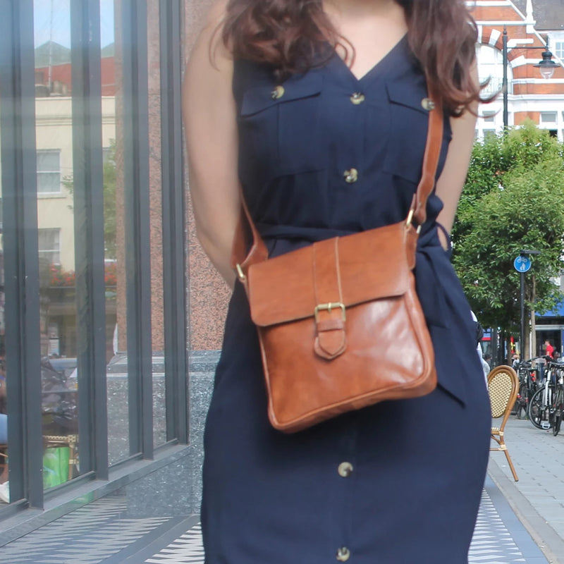 Jacque Crossbody - Tan-ISMAD LONDON