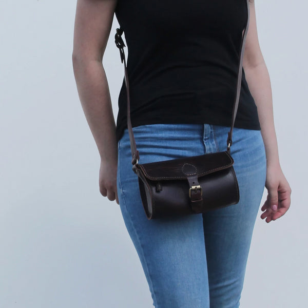 Pixie Barrel Bag - Chocolate-ISMAD LONDON