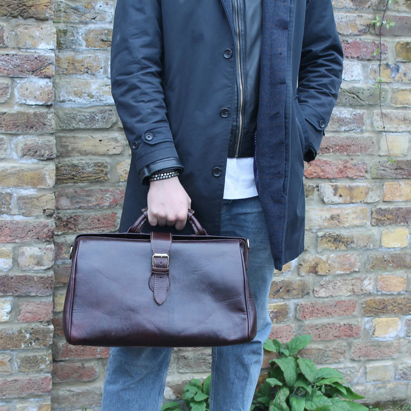 Doctor Bag - Chocolate-ISMAD LONDON