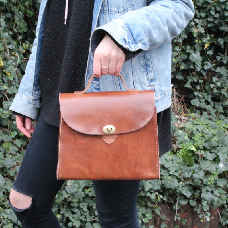 Vicky Handbag - Tan-ISMAD LONDON